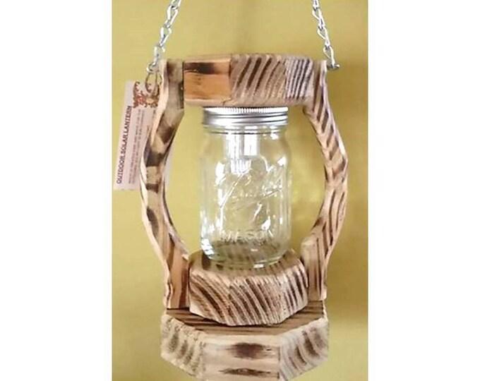 Clear Pint Mason Jar Solar Lantern