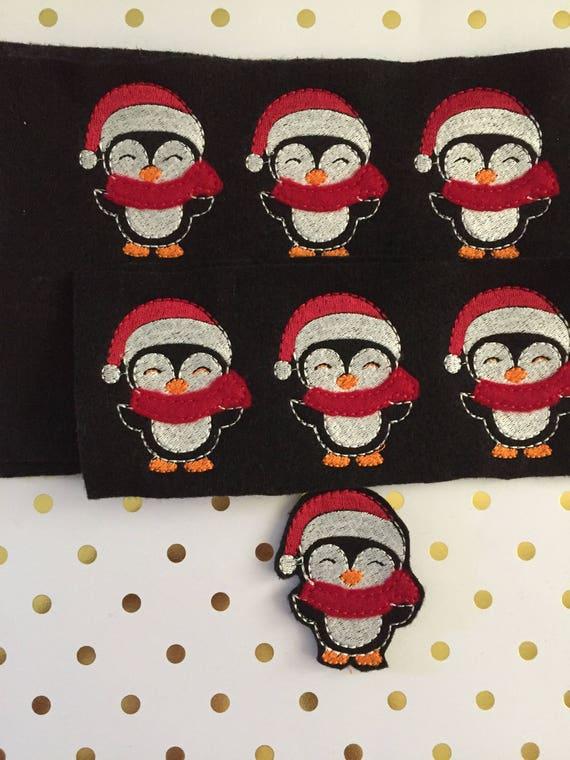 Oversized Christmas Felties/Felt Embellishments/Planner Supplies/Planner Feltie/Wholesale Felties/Bow Embellishments/Penguin Felties