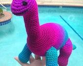 Pink Brontosaurus, Purple Brachiosaurus, Dinosaur Lovey, Blue Stuffed Animal, Purple Plushie, Dinosaur Decor, Dino Stuffed Animal, Dinosaur