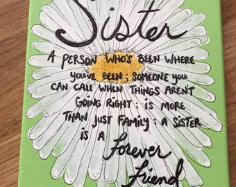Sister Gift Gift For Sister Sister Canvas Wall Signs For Sister Sister Wall  Decor Canvas Quote