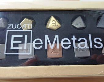 Zucati EleMetal™:  10 Metal Mixed Polyhedral Master Set #3