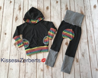 RAINBOW STRIPES Grow With Me Outfit
