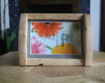 7x5 Wooden picture frame, Solid Ash, free standing.
