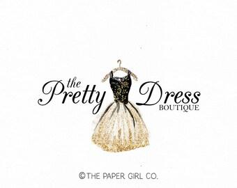party dress logo dressmaker logo couture dress logo fancy dress logo frock logo design bespoke party logo event planner logo wedding logo