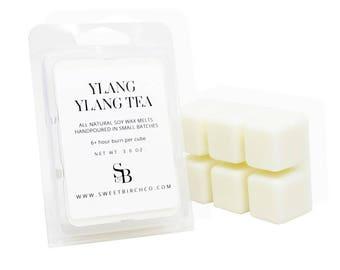 Ylang Ylang Wax Tarts - floral candle melts  - Relaxing Wax Melts made for Aromatherapy