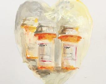 Everyday A Heart Mixed Media Art