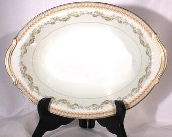 Noritake Shelburne 5316 Oval Serving Bowl, Laure and Roses