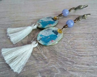 Geisha earrings, artisan earrings, tassel