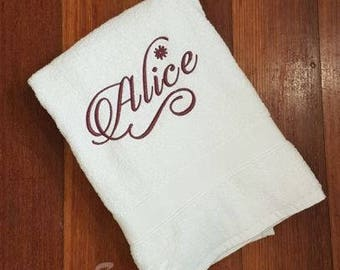 Personalised Embroidered Bath Towel With Name