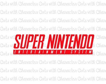 ON SALE Super Nintendo logo SVG Dxf and Png Files for Cutting Machines Silhouette, Cricut or Scan 'N' Cut