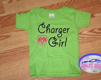 Charger Girl Toddler T Shirt (clothing) Perfect gift for the Dodge Charger car lover & their little girl!