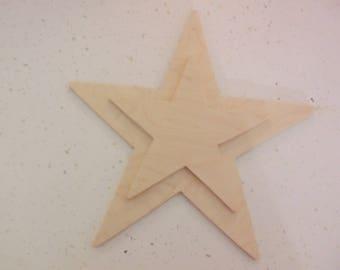 """10"""" Star, Wooden Stars, Wood Stars, Star Cut Out, Star Shape, Star Ornament, Star Door Decor, Wall Decor"""