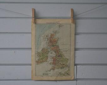 1939 Vintage Map of United Kingdom & Ireland
