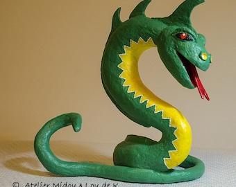 Decorative paper mache Dragon Snake