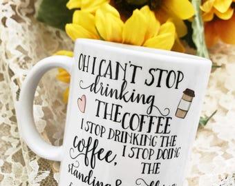 Coffee Coffee Coffee Funny Mug - Gilmore Girls Mug - Gift for Coworker - Coffee Lover - Best Friend Gift - Coffee Lover Gift - Lorelai