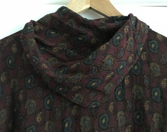 90's Paisley Blouse with Scarf