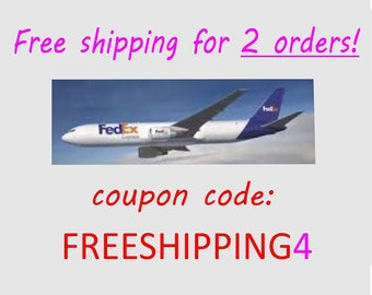 Free Shipping Code, Free Shipping Coupon, Do not buy this listing just use at checkout the code FREESHIPPING4