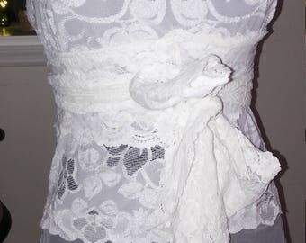 lace tunic tank with sash