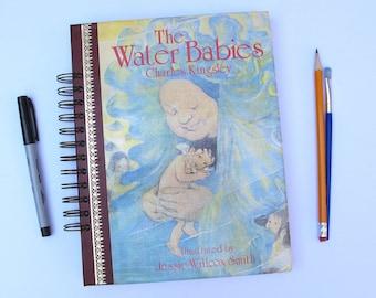 The Water Babies vintage book journal, vintage book art journal