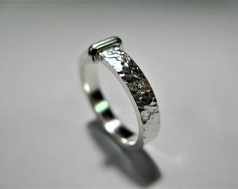 ring inspired by outlander claire handmade in hammered silver 925