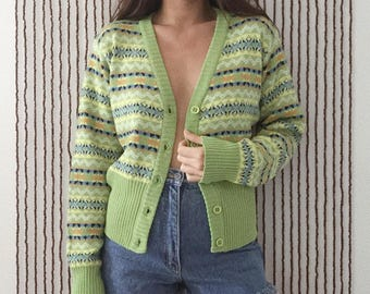 Groovy Button Up Sweater