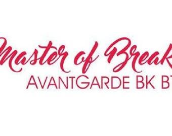 Master of Break Font, Postcard-Invitation-Wedding-Web page, Instant Download