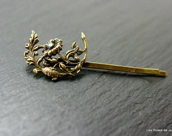 hair clip, art deco, flowers