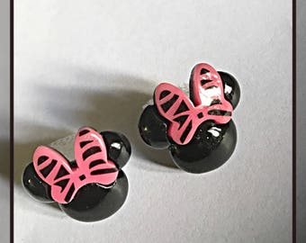 Large Minnie Mouse Head Stud Earrings ON SALE