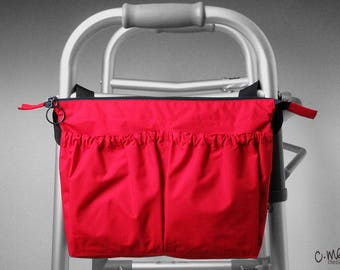 New!  Red side walker or wheelchair bag