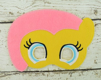 Flutter Pony Children's Mask  - Costume - Theater - Dress Up - Halloween - Face Mask - Pretend Play - Party Favor