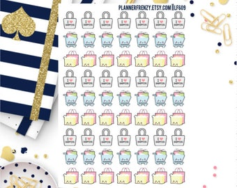 63 Kawaii Retail Therapy Shopping Planner Stickers!LF609