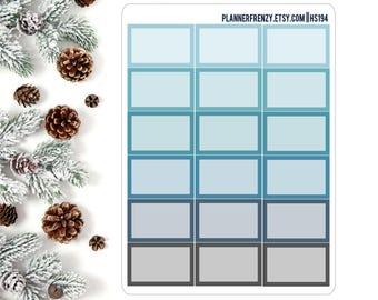 18 Winter Chill Collection Square Edge Half Box Planner Stickers! HS194