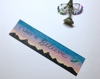 Hand Painted I Want To Believe Bookmark | X-Files