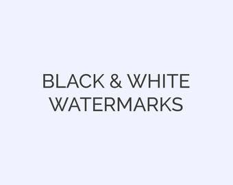 Black & White Watermarks