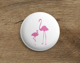 Badge Flamingo Pink
