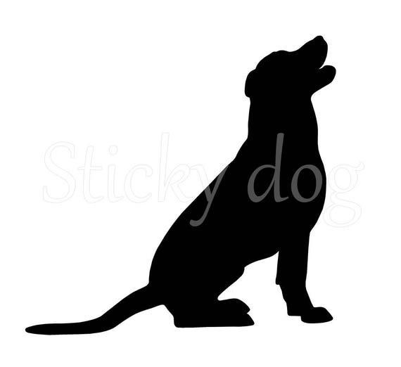 labrador retriever silhouette sticker from stickydog on etsy studio