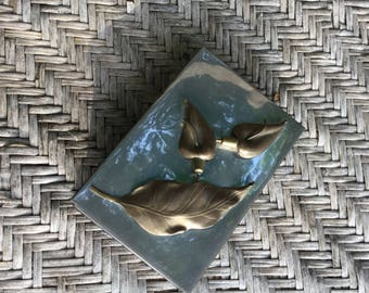 Vintage Metal Box/ Jewelry Box / Trinket Box / Silver and Brass / Gift for Her / Home decor