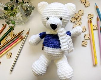 Teddy Bear, Crochet Toys, Amigurumi, Bear, Polar Bear, Christmas, Handmade Toys, Christmas  Present, Cute Toys