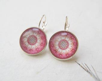 Mandala earrings, yoga earrings, mandala jewelry, bronze earrings