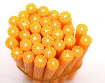 1 X orange fimo Cane