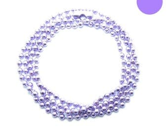 NECKLACE 60cm ball chain 2.2 mm purple