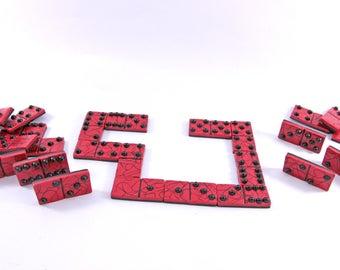 Set of dominoes - hearts