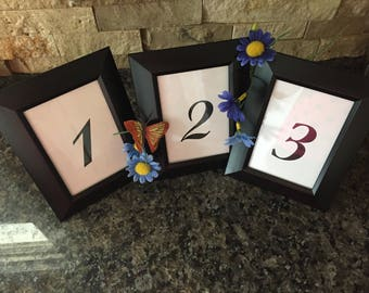 Black Framed Table Numbers