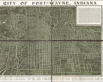 Poster, Many Sizes Available; Map Of Fort Wayne, Indiana 1907