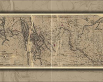 Poster, Many Sizes Available; Map Of Lewis And Clark Path 1810