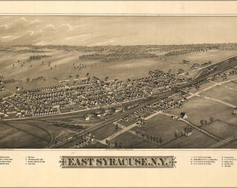 Poster, Many Sizes Available; Map Of East Syracuse, N.Y. 1885