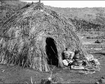 Poster, Many Sizes Available; Apache Wickiup, By Edward S. Curtis, 1903