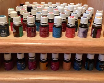 Essential Oil Shelf/oil storage/bathroom/organizer/natural/holds 136 (15) ml bottles
