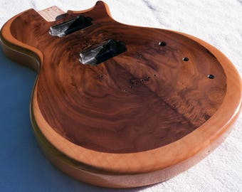 Maple with Walnut Inlay Single-Cutaway LP-Style Guitar Body