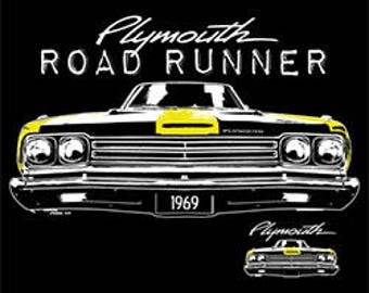 PLYMOUTH ROAD RUNNER 1969 | licensed t-shirts | mens t shirt | cars trucks t-shirts pick up truck